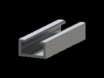 Aluminium montageprofiel voor contactlijstprofielen A, B, C, D