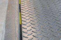 Achterafdichting dock leveller 80mm met schuimvulling, lengte 1000mm