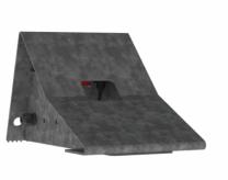 Set wielkegen, metaal, inclusief sensoren voertuigdetectie en muurbeugel